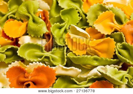 colorful pasta mix background