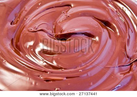 smooth melted creamy chocolate background