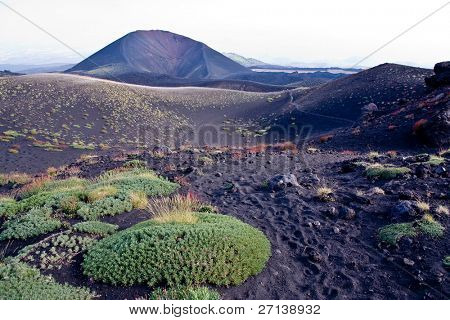 trekking on Etna volcano in Sicily