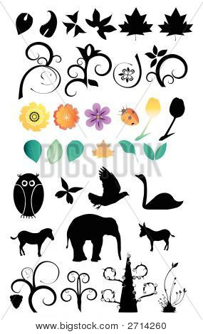 Vector Nature Clip-Art Set