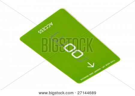 tarjeta de acceso sobre fondo blanco