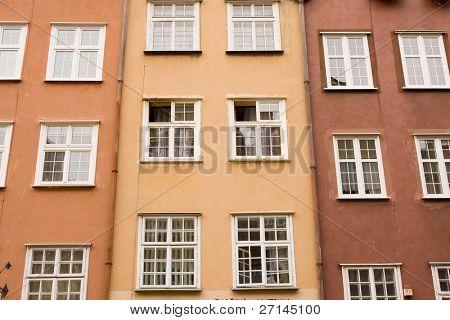 closeup of historic architecture in Gdansk, Poland
