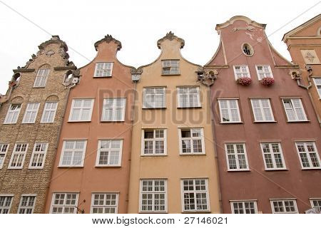 closeup of historic architecture in Gdansk, Poland