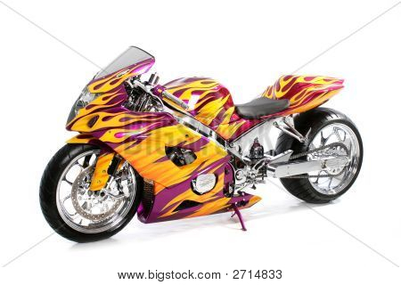 Custom Motorcycle Speed Flames