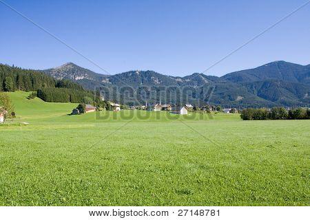Alpine Ackerland im Sommer, Österreich