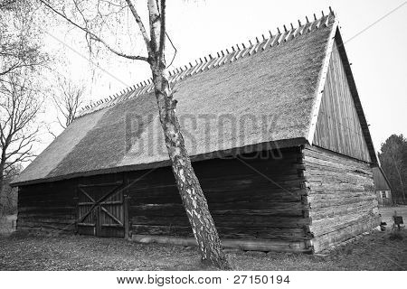 old wooden house, Poland, Kashuby, Wdzydze