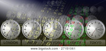 Stock exchange clocks