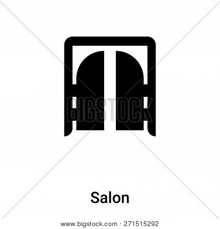 poster of Salon Icon In Trendy Design Style. Salon Icon Isolated On White Background. Salon Vector Icon Simple