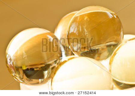 close up of vitamin oil capsules