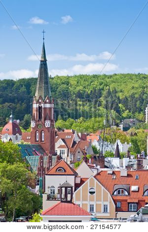 historic architecture of town Sopot, Poland