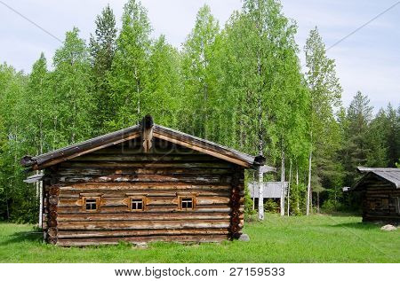 Old wooden house in north Russia. Arkhangelsk