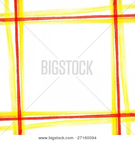 Yellow-red thread square pattern