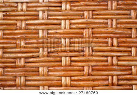 Braun Rebe geflochten Flechtwerk Hintergrund