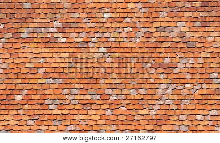 Orange roofing background