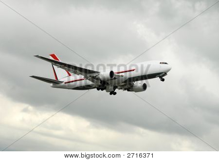 Large Airplane In Flight