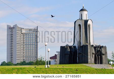 Minsk, Belarus: Island of Tears, a memorial set up in 1988 to commemorate Belarusian soldiers who died in the war in Afghanistan