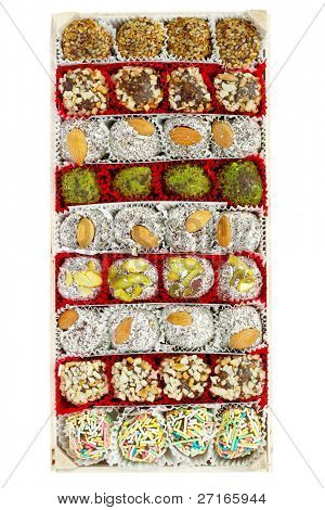 Assorted Turkish Delight bars in a box (Lokum soft candies)
