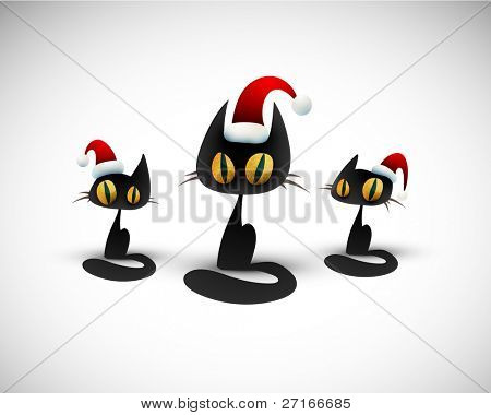Cat Chorus Sings and Wishes You a Merry Christmas | Funny Holiday Background