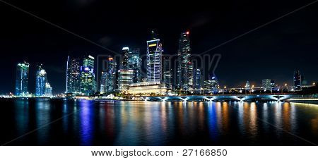Singapore CBD at night
