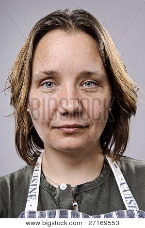 Portrait of a real Woman in ihren 30er Jahren