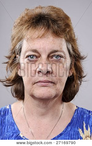 Old woman with deep wrinkles, must see full size