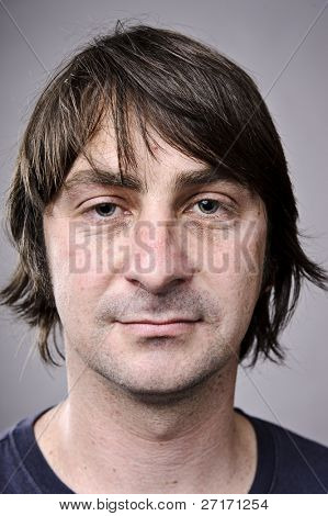 Highly detailed image of a brunette man (more of 100 faces collection in my portfolio)