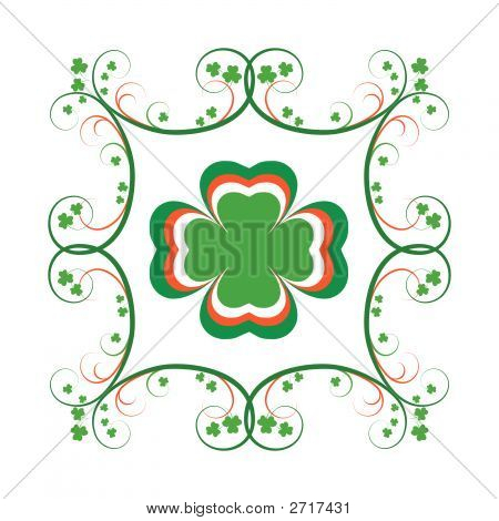 Irish Shamrock - Fancy Frame