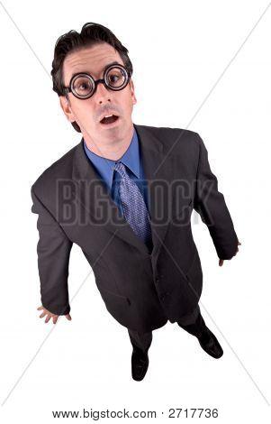 Business Geek Standing