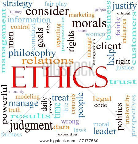 Ethics Word Concept Illustration