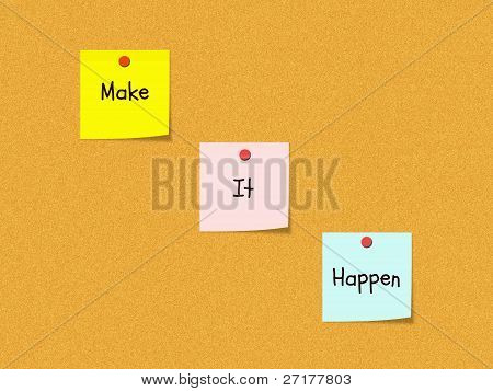 Make It Happen Bulletin Board