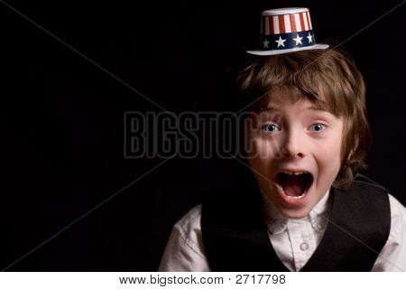 Young Boy With Party Hat