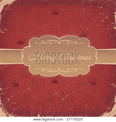 Rote Vintage Christmas Background. Vektor, eps8