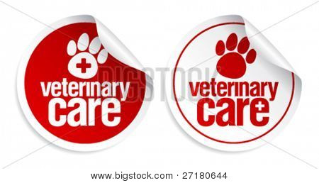Veterinary care stickers set.