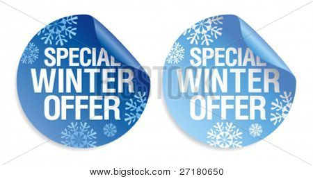Special winter offer stickers set.