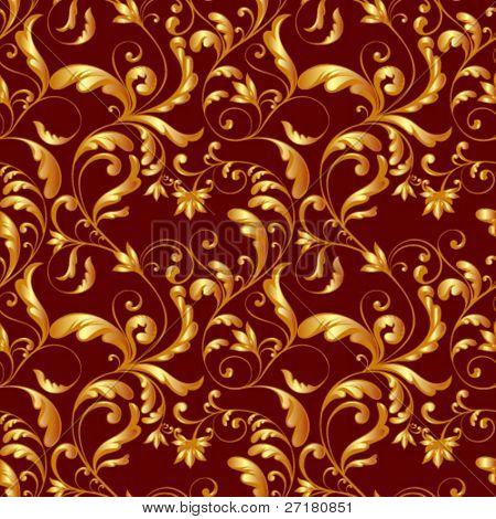 golden tiling textures on red back