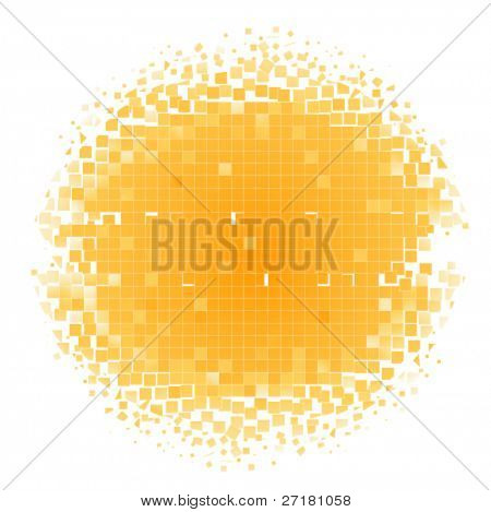 color mosaic circle background (frame)