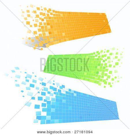 set of color mosaic frames