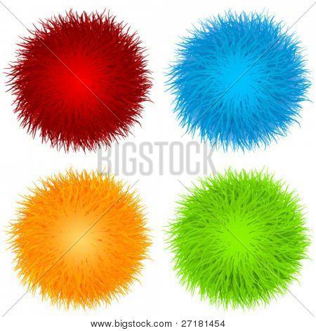 set of vector fur balls