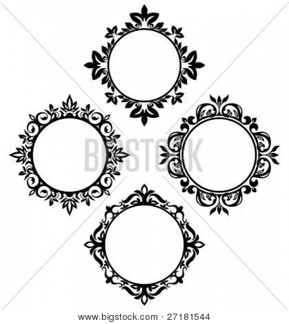 set of vintage circle frames