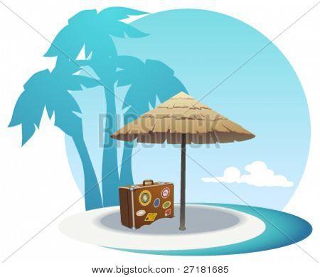 Vektor-Illustration Insel Küste