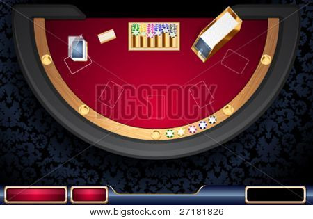 vector illustration of on-line casino user interface