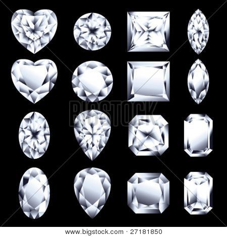 set of vector diamonds for design