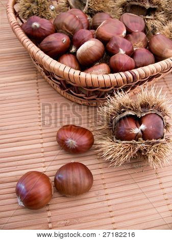 chestnuts in their shells