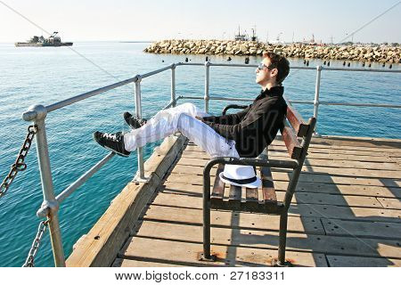 Man On The Pier