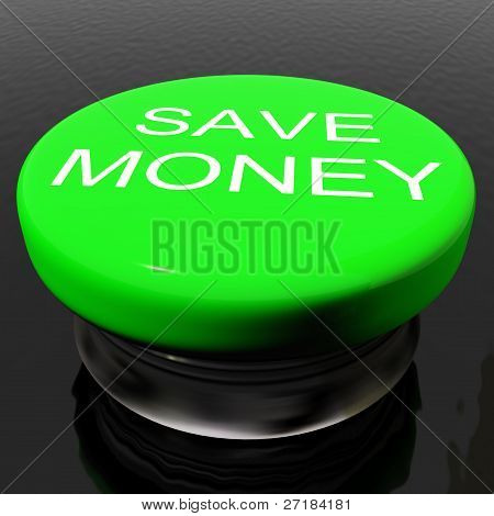 Save Money Button As Symbol For Discounts Or Promotion