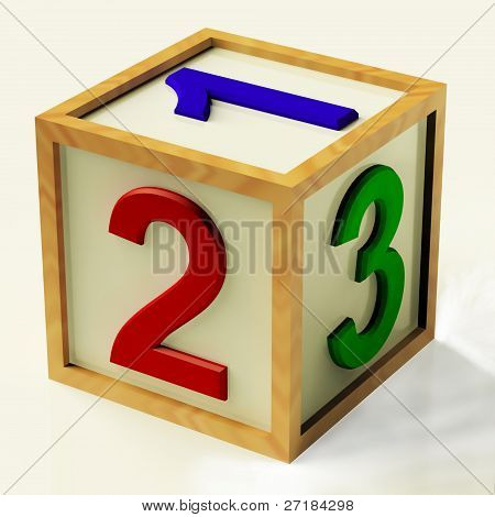 Kids Number Block As Symbol For Numeracy Or Counting