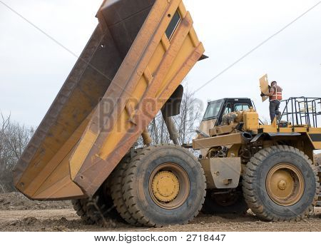 Dump Truck And Mechanic
