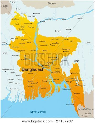 Vector map of Bangladesh country