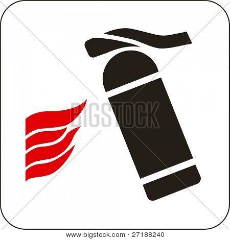 Vector illustration: fire extinguisher sign