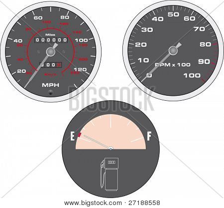 Set of speedometer vector